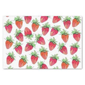 Fresas con sabor a fruta de la acuarela colorida papel de seda