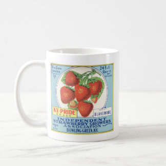 Fresas de Kentucky - etiqueta del cajón de la Taza De Café