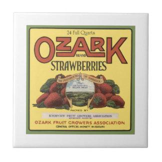 Fresas de Ozark Tejas