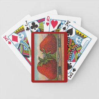 Fresas del gigante del vintage baraja de cartas