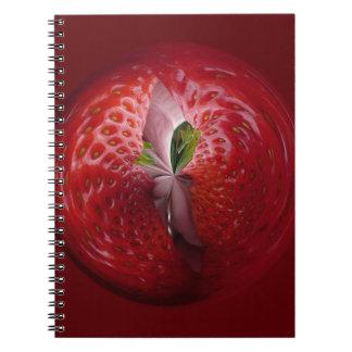 Fresas del interior cuadernos