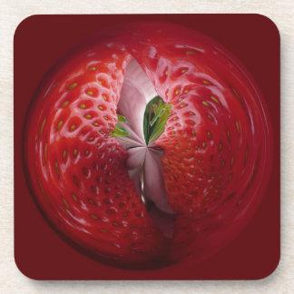 Fresas del interior posavasos de bebidas