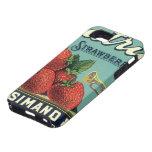 Fresas del patriota del arte de la etiqueta del iPhone 5 Case-Mate protectores