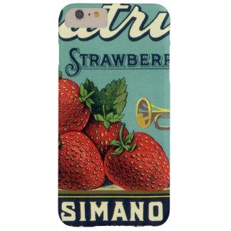 Fresas del patriota del arte de la etiqueta del funda de iPhone 6 plus barely there
