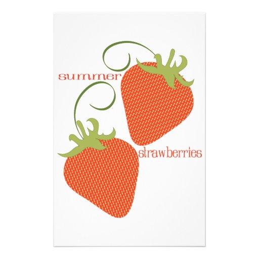 Fresas del verano papelería personalizada