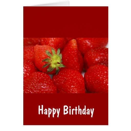 Fresas dulces tarjeta de felicitación