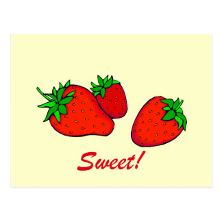 Fresas dulces postales