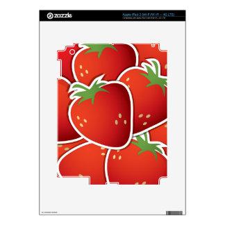 Fresas enrrolladas iPad 3 skins