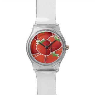 Fresas enrrolladas reloj de mano