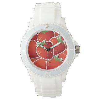 Fresas enrrolladas relojes de mano