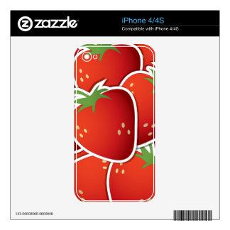 Fresas enrrolladas skins para eliPhone 4