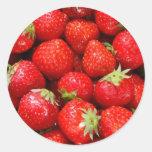 Fresas Etiqueta Redonda