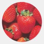 Fresas Etiquetas Redondas