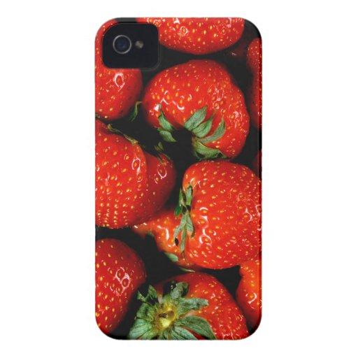 Fresas frescas iPhone 4 coberturas