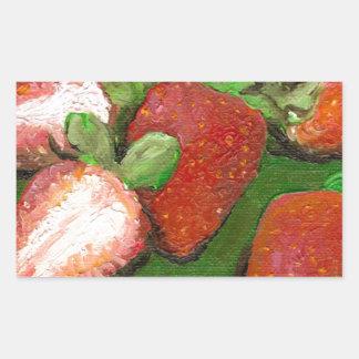 Fresas frescas rectangular altavoz