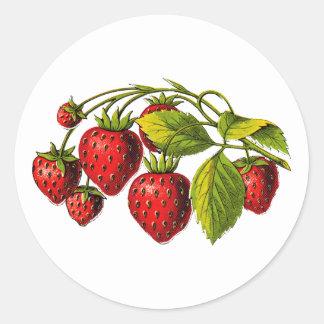 Fresas frescas etiquetas