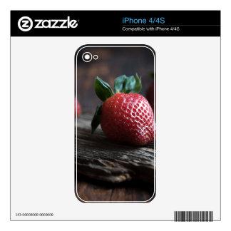 Fresas hermosas calcomanía para iPhone 4