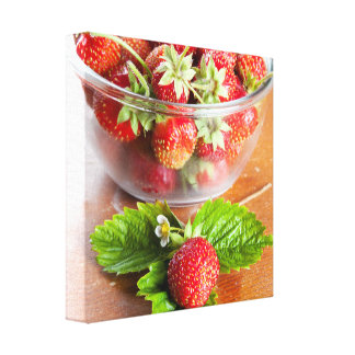 Fresas Impresión En Lona