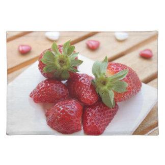 fresas manteles