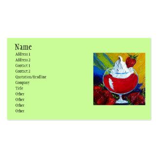 fresas, nombre, dirección 1, dirección 2, Conta… Tarjetas De Visita