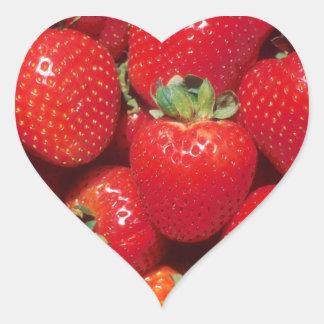 Fresas Pegatina En Forma De Corazón