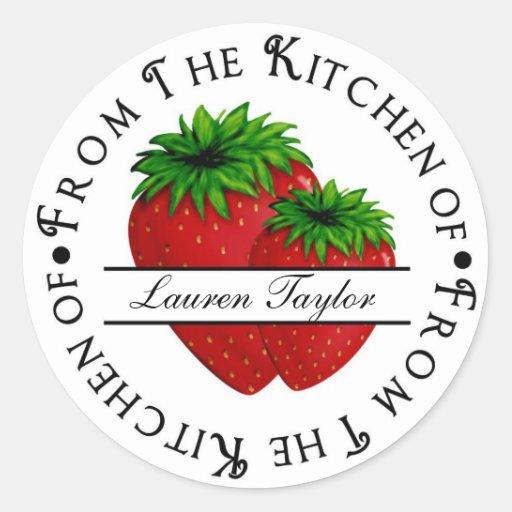 Fresas personalizadas de las etiquetas engomadas pegatina redonda