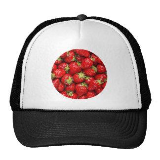 Fresas rojas frescas gorra