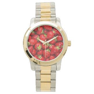 Fresas rojas frescas relojes de mano