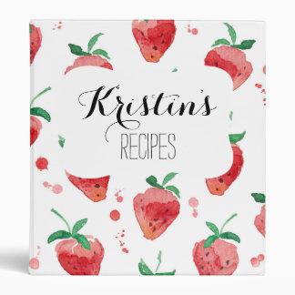 """Fresas rosa y bayas pintadas rojo de la acuarela carpeta 1"""""""