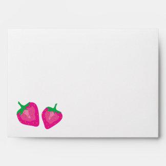 Fresas rosadas sobres