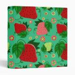 Fresas rosadas verdes rojas