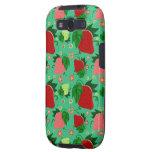 Fresas rosadas verdes rojas galaxy SIII fundas