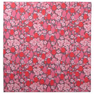 Fresas rosadas y rojas del campo servilleta