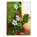 Fresas tempranas de la primavera felicitaciones
