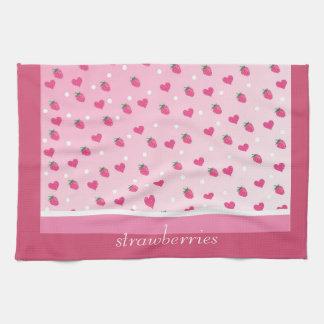 fresas toallas de mano