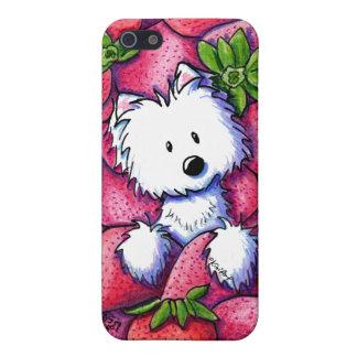 Fresas Westie de KiniArt iPhone 5 Funda