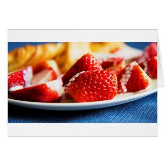 Fresas y crema tarjeta