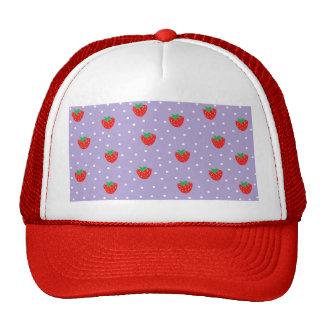 Fresas y lunares púrpuras gorras de camionero