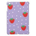 Fresas y lunares púrpuras iPad mini funda