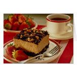 Fresas y torta deliciosas tarjetas