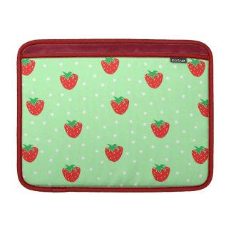 Fresas y verde menta de los lunares funda macbook air