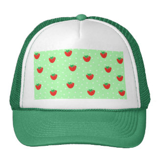Fresas y verde menta de los lunares gorra