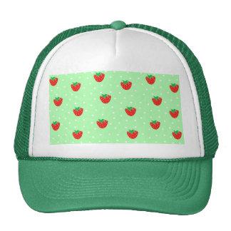 Fresas y verde menta de los lunares gorro