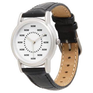 """Fresco """"AHORA"""" mire (el blanco) Reloj"""