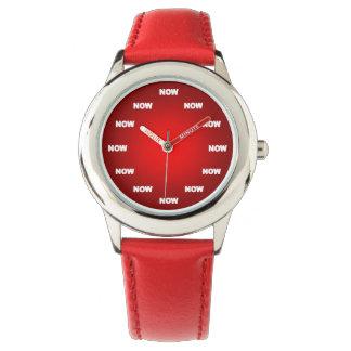 """Fresco """"AHORA"""" mire (el rojo) Reloj De Mano"""