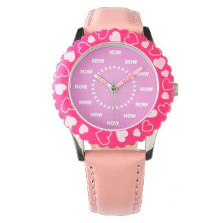 """Fresco """"AHORA"""" mire (el rosa) Reloj De Mano"""