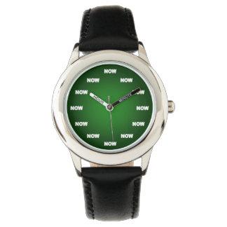 """Fresco """"AHORA"""" mire (el verde) Relojes De Pulsera"""