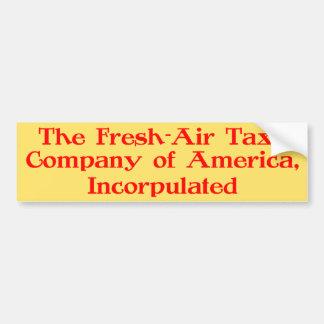 Fresco-Aire Taxi Company de América, Incorpulated Etiqueta De Parachoque