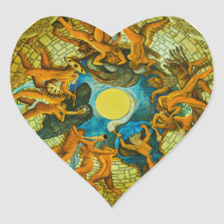 Fresco at the cupola of Burschenschaftsdenkmal Heart Sticker