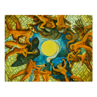 Fresco at the cupola of Burschenschaftsdenkmal Post Cards